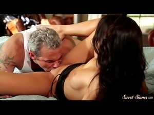 Sweet stepdaughter pounded by her stepdad