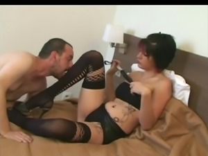 Mistress enjoying oral slave