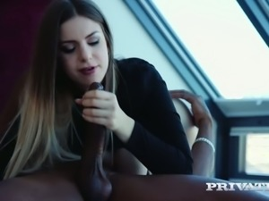 Super phat busty cutie Stella Cox gets wild with black horny dude