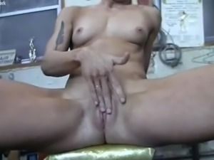 Redhead Charlotte Masturbates in the Gym