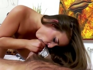 Handsome lover wants to play with brunette sex bomb Amirah Adara