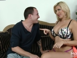 Busty milfs like Savanna are really good at giving blowjobs. She has been...