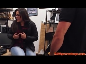 Pawnshop amateur blowing manager for money