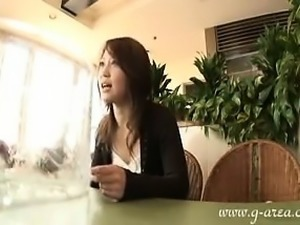 Asian wife goes home to toy her clit and give hubby a blowj