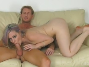 amateur couple getting wild in front of the camera