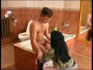 Russians in the bathroom