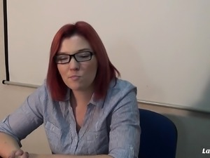 LA NOVICE - Nerdy French babe gets ass fucked at the office
