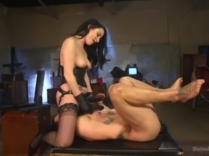 mean mistress pegs a loser slave