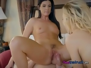 Stepmom And Stepdaughter Get Plowed By Gardener5.wm