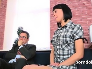 Ideal schoolgirl gets seduced and rode by her aged schooltea