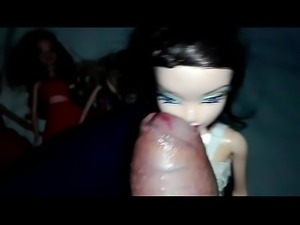 Oral roullette with 5 barbies PART 2- Extreme cumshot (Dollman)