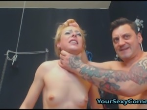 Old Pervert Humiliates Russian Slut Treating Her Like A Slave