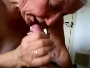 Mature bitch with big boobs sucking fucking big cock