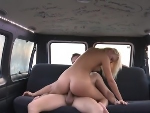Freaky Slut Sucking Cock In The Back Seat