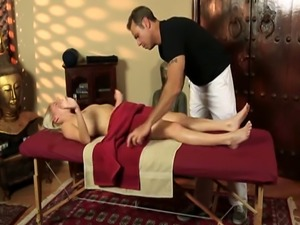 Massage babe slammed roughly in missionary