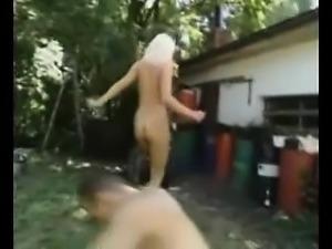 German blonde outdoor banged Vertie from dates25com