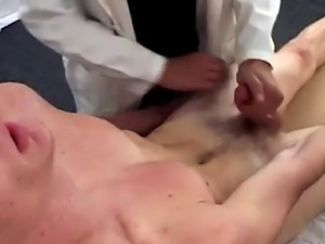 Hairy twink pissing and gay boy prostate massage doctor
