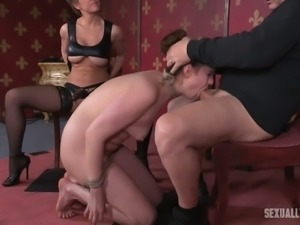 Endza Adair is a submissive minx and she really likes giving oral sex