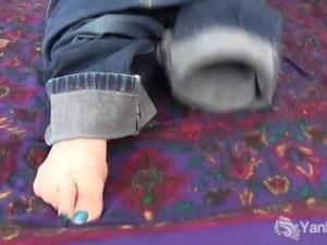 Muscular Nina Masturbating Her Clit