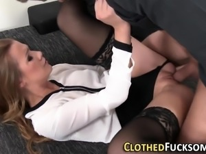 Clothed glamour ho cum