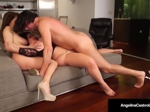 Cuba's Angelina Castro Gives a BlowJob & Has Threesome Sex!!