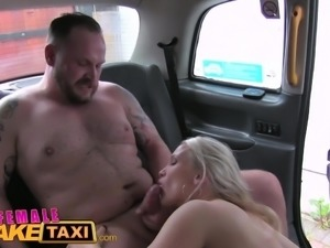 Female Fake Taxi Hot milf cabbie fucks lawyer cock
