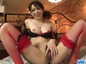 Yui Hatano feels big cock smashing her furry cunt