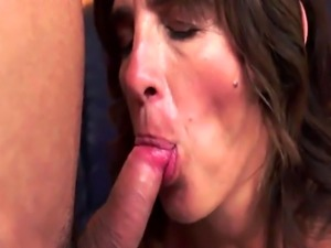 Euro granny cockriding and playing with cum