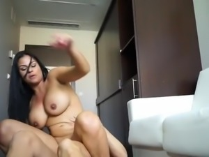 Latina Teen Gets Hard Cock Deep In Her Ass