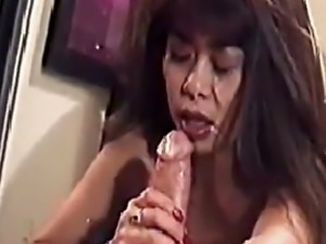 Leanni Lei gets a facial from Peter North