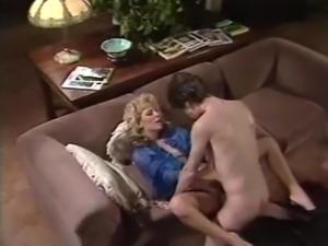 Hot Vintage Scene With Karen Summer and Tom Byron