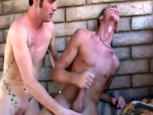 Non men gay sex clip I found Jake and Aiden on the back porch rummagin