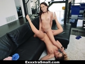 ExxxtraSmall- Nerdy Step-Sis Dominated By Tall Brunette