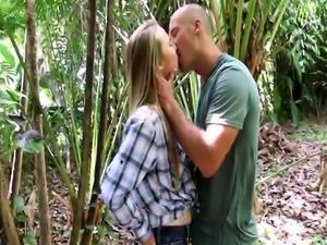 Sexy teen fucks her girlpatron Backwoods Bartering
