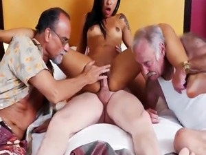 Old men compilation Staycation with a Latin Hottie