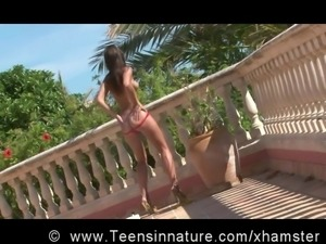 Beautiful Teen posing outdoor