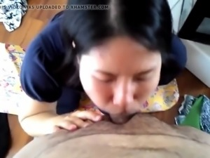 submissive japanese slut suck and swallow white cock