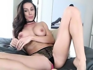 Beautiful Brunette Shows Her Big Boobs