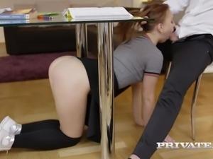 naughty schoolgirl kira thorn takes an anal...