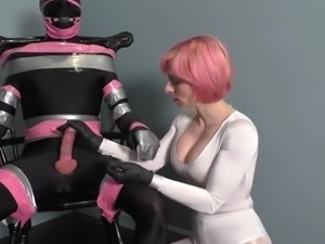 Bound slave made to cum twice EXTREME MILKING