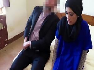 Sexy Arab babe enjoys hardcore doggystyle action
