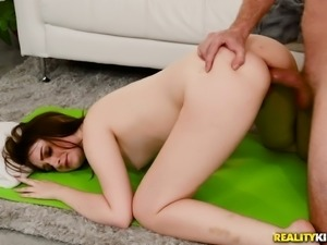 Naughty Maya Kendrick seduces a guy with her thick booty