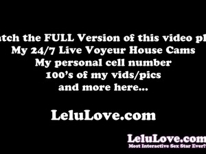 Lelu Love-POV Satin Dress Handjob Cum On Clothes