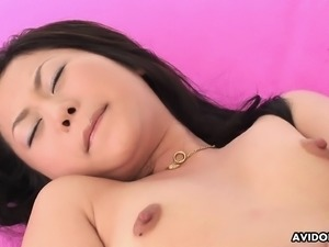 Cute and sweet Asian brunette rides the dude's hard cock