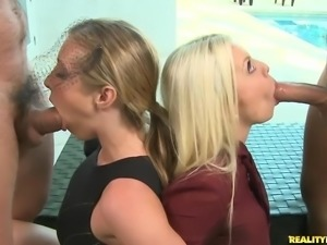 Samantha Saint and Britiney Amber get banged together