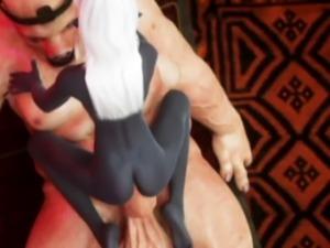3D Ugly Ogre Destroys Elf Girls!