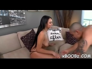 Slut with boobs enjoys sex to max