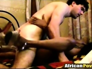 African Sluts Gives Head And Pounds White Cock