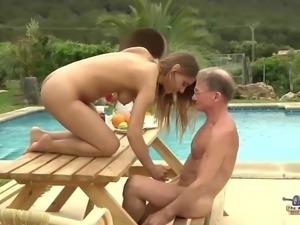 Tighty Body  Fucked Grandpa and Sucked Dick