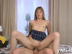 Vehement wet beauty enjoys hardcore anal fucking experience